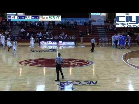 1st Half - Moody Bible Institute Men's Basketball vs. Bob Jones University