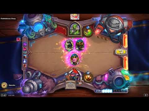 HearthStone Puzzles - Board Clear Puzzles, Flobbidinous Floop Walkthrough.
