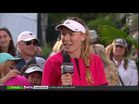 Caroline Wozniacki - 2019 Charleston Second Round Tennis Channel Desk Interview