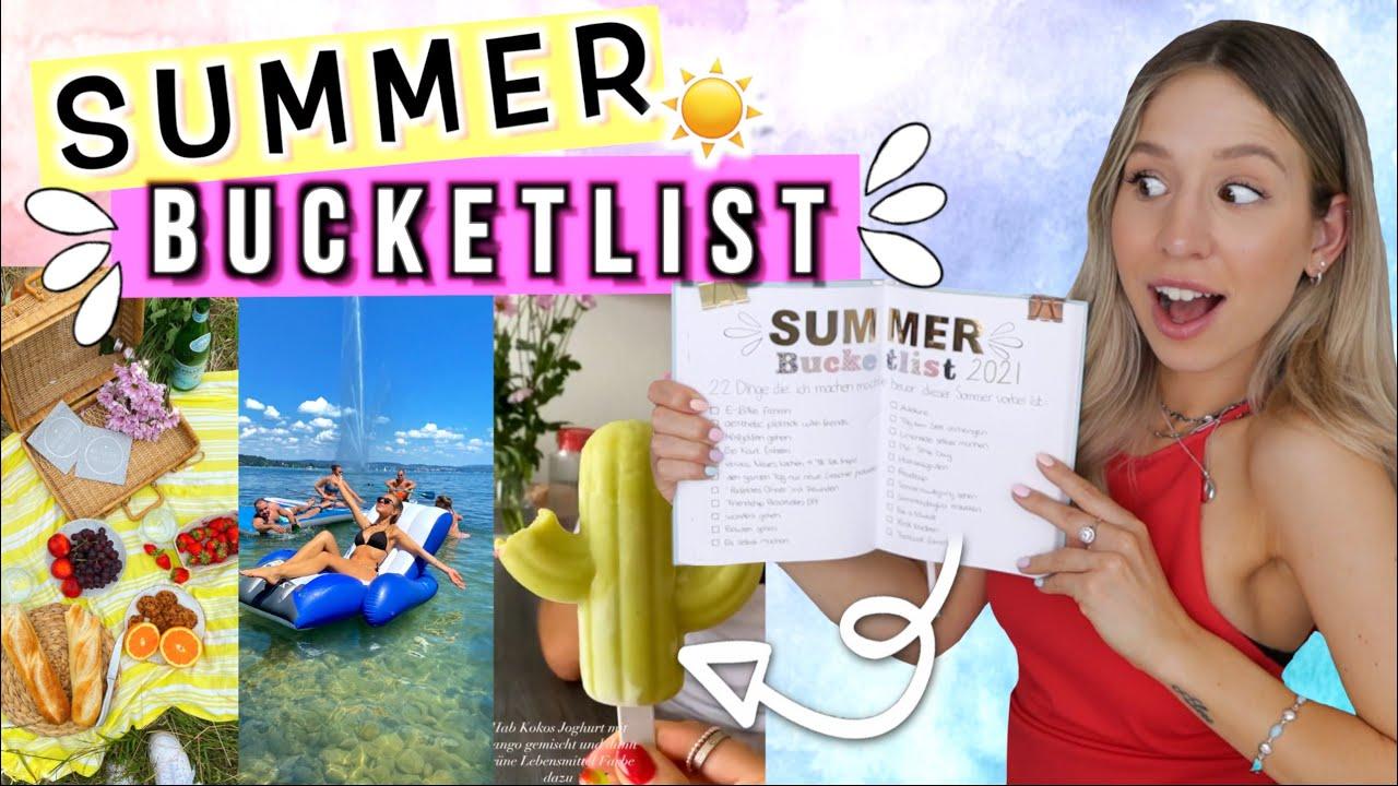 SUMMER BUCKETLIST 🆘 Was tun gegen Langeweile im Sommer 2021? 22 IDEEN! Cali Kessy