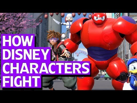 How Disney Characters Fight In Kingdom Hearts 3