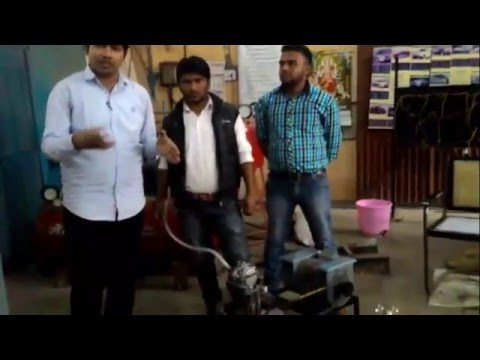 Compressed Air Engine Producing Electricity and ice @ JEC Jabalpur