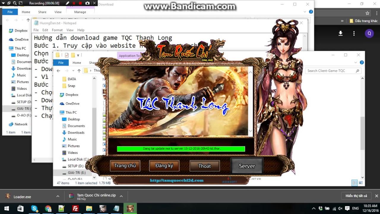 Hướng dẫn cài game TQC server Thanh Long