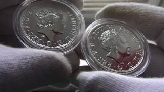 Серебряная монета Британия 2017 г.