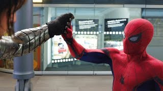 """You Have a Metal Arm?"" Airport Battle Scene - Captain America: Civil War - Movie CLIP HD"