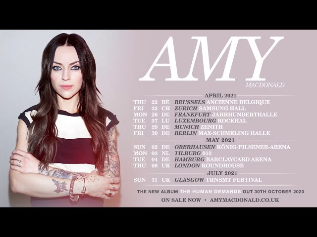 Amy Macdonald - 2021 UK & Europe Tour - On Sale Now
