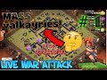 Live war with valkayries | clash of clans | Gaming with roy