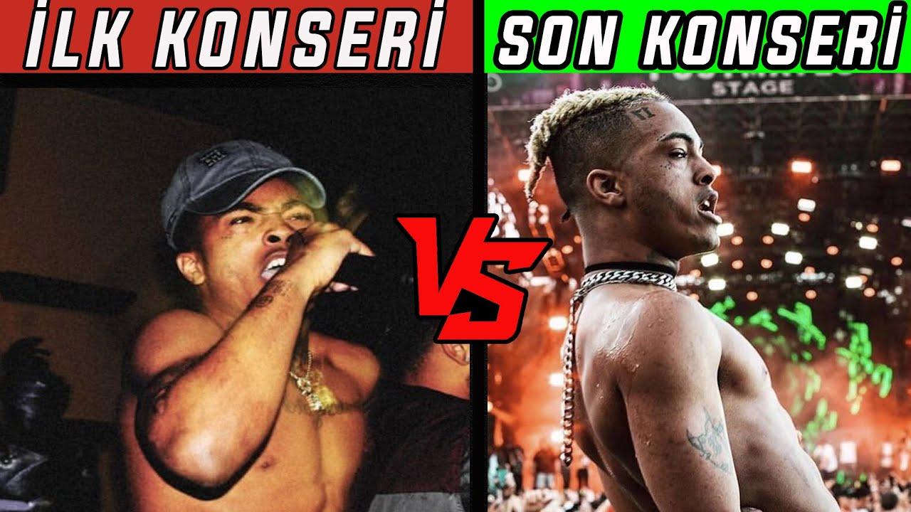 RAPÇİLERİN İLK VE SON KONSERLERİ! (XXXTentacion, Travis Scott, Juice Wrld, Lil Peep..)