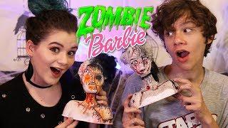 Barbie Zombie Makeover Challenge! Halloween Decor DIY!