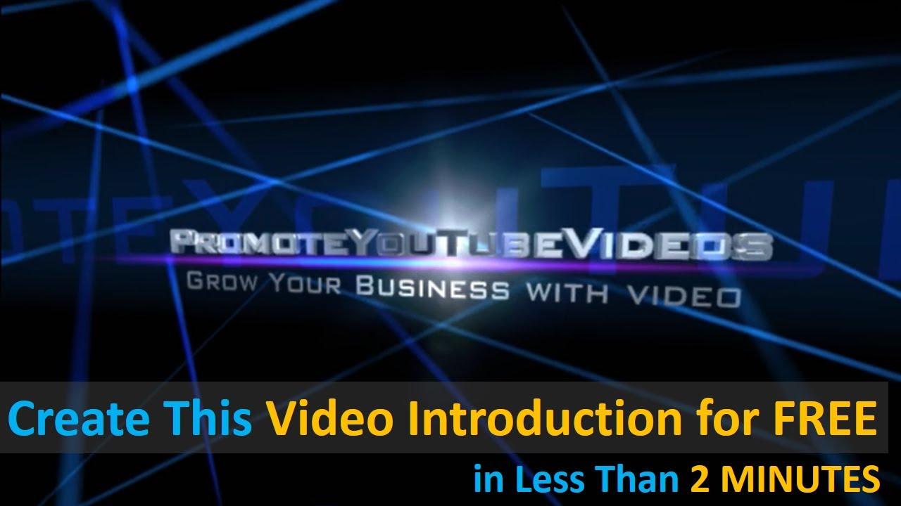 How To Make a Free Video Intro - Create EPIC Video Intros for ...