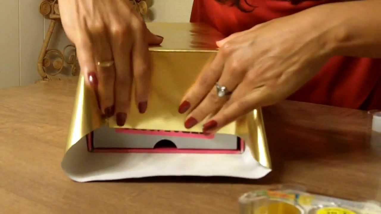 How to Easily Wrap a Christmas Gift or Present Like Macy's - YouTube