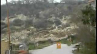 Giant Landslip hits village. Caught live on camera