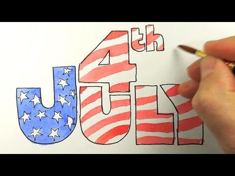 Attractive How To Draw The 4th Of July!   YouTube