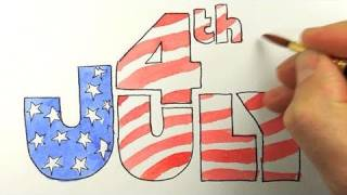 How to draw the 4th of July!