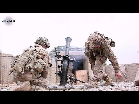 US Army Fire Barrage of Mortars on Taliban Insurgents