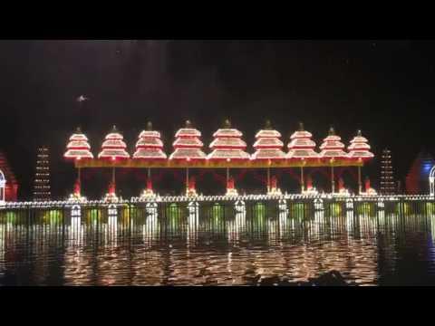 Fireworks At Krishna Pushkaralu Maha Harathi Opening Day Event