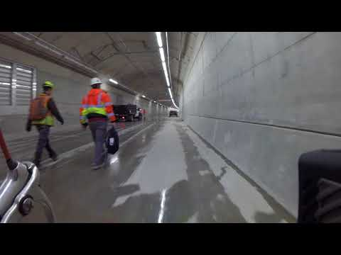 Bike ride through SR 99 tunnel