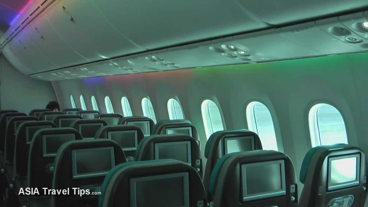 Boeing 787 8 dreamliner interior and exterior tour for Interior 787 dreamliner