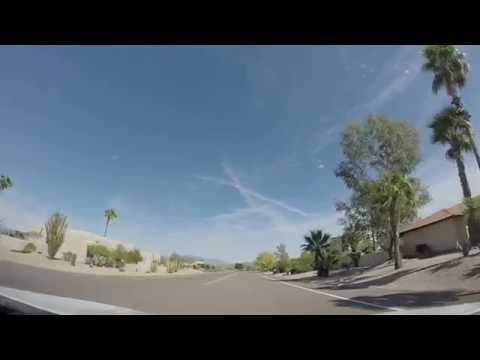 Driving Home in Fountain Hills,AZ