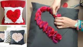 Como hacer Cojines con Corazon :: Decora Pillow diy: Pillow heart