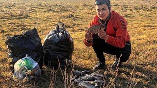 РЫБАЛКА на КАРАСЯ 2019 Уборка мусора Осенняя Рыбалка Казахстан