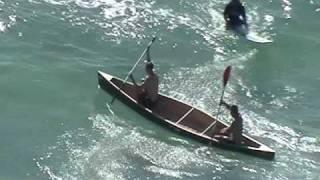 Canoeing in the Ocean