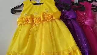 Promo Dress Bayi 0 - 18 Bulan Dress Princess Rok Brukat Baju Pesta Murah KA18