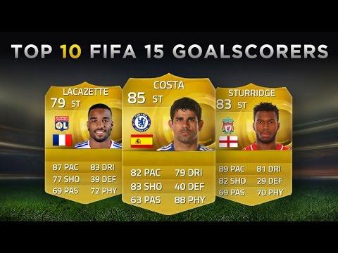 Top 10 FIFA 15 Goalscorers   Costa, Sturridge, Lacazette!