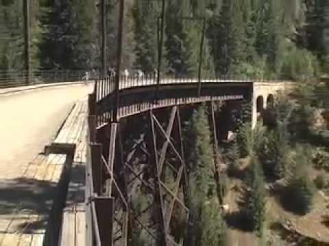 Rails To Trails Idaho Map.The Route Of The Hiawatha Trail In Idaho Youtube