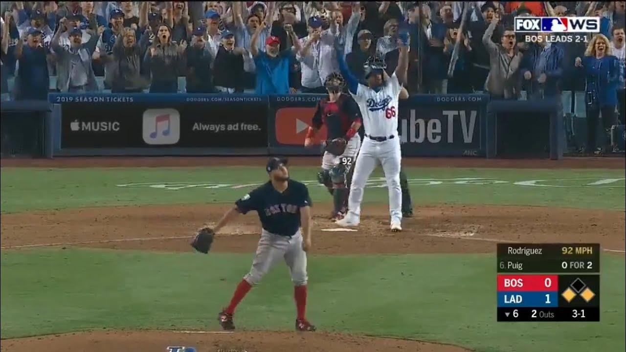 Yasiel Puig No Doubt 3 Run Home Run Vs Red Sox Dodgers
