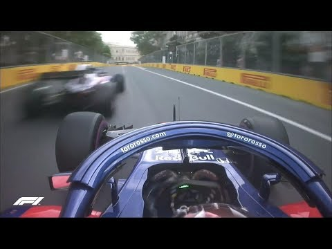Toro Rosso Near Miss in Qualifying | 2018 Azerbaijan Grand Prix