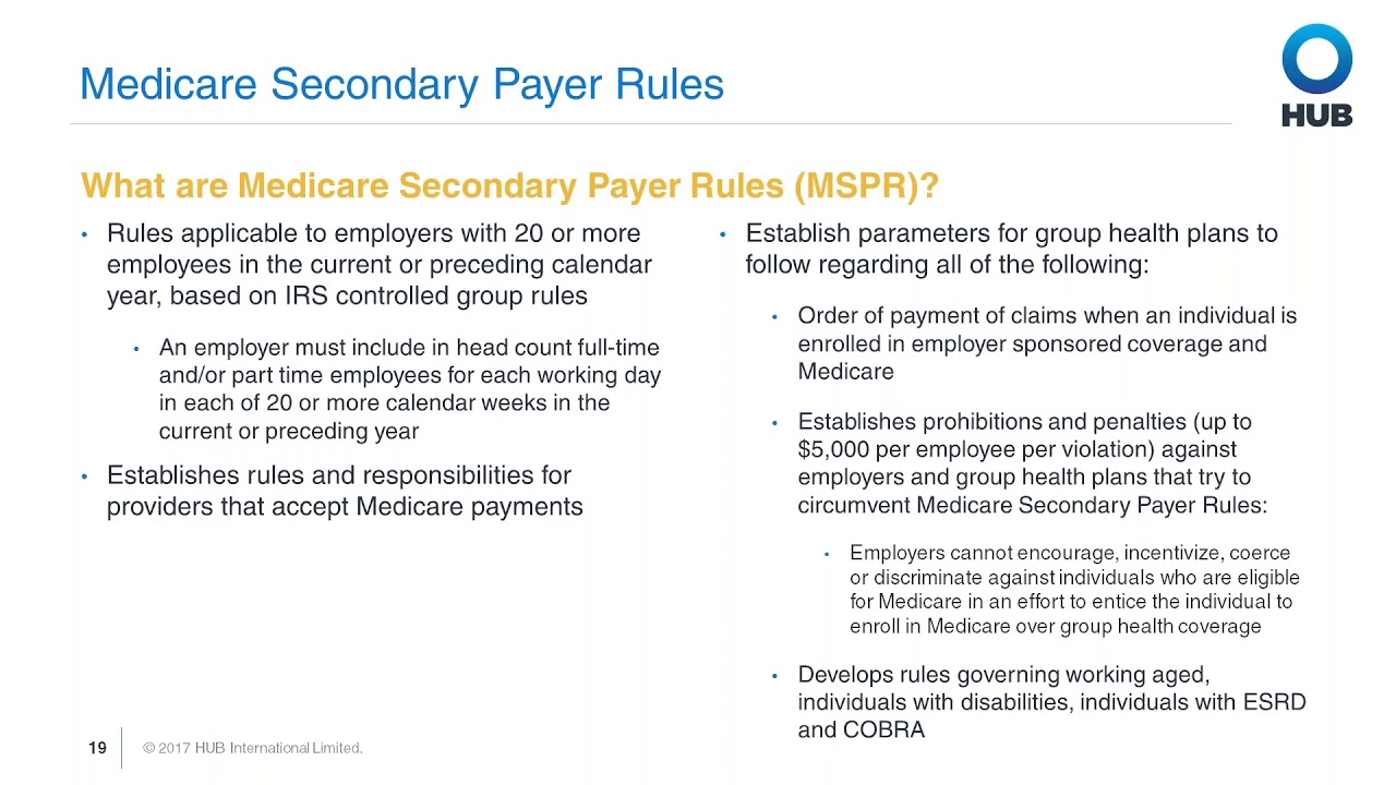 Medicare Secondary Payer Rules: Part 2 of 4 - YouTube