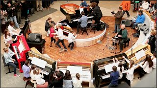 Flashmob Cantina Band Project Conservatoire Lyon- Star Wars Young pianists Performance