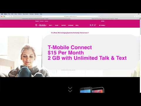 T-Mobile Connect $15 For 2GB & Unlimited Talk & Text