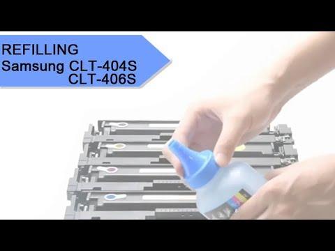 How To Refill Samsung Clt-404s / Clt-406s Toner Cartridge