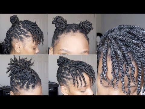 NATURAL HAIR | Mini Twists Tutorial + Styles | 4b/4c Hair