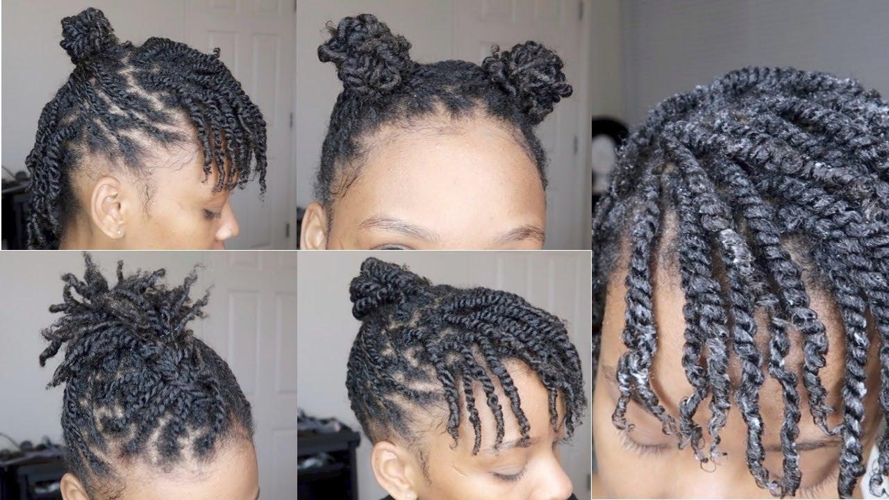 natural hair mini twists tutorial