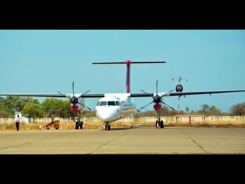 Spicejet Q400 Landing in tuticorin Airport