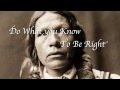The Ten Commandments Of The Native American Indians video