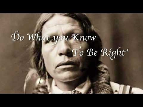 The Ten Commandments of the Native American Indians