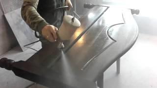 Кровать двухспальная массив сосна (покраска венге)(, 2016-01-30T18:35:26.000Z)