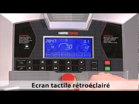 tapis de course homeform hf 16 touch tool fitness