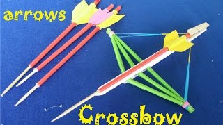 How to make a Paper Crossbow and Arrows | Creative toy