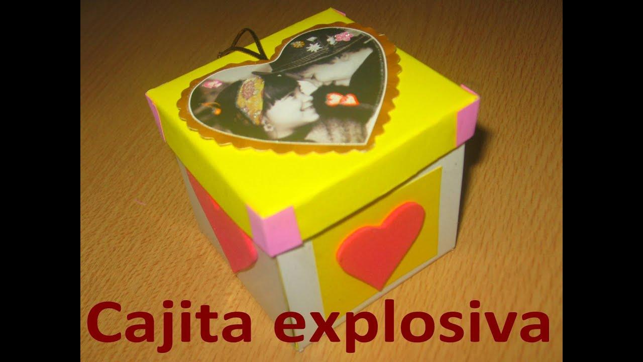 Cajita explosiva con torta sorpresa tarjeta de - Sorpresas de cumpleanos ...