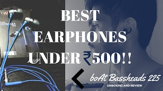 Video Best Earphones Under 500 Rs - BOAT Bassheads 225 (UNBOXING & REVIEW) download MP3, 3GP, MP4, WEBM, AVI, FLV Maret 2018