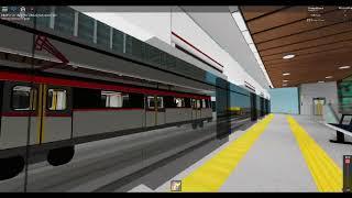 Roblox, Star Line Automatic, Karnaugh plants mrt train station, Escalator ride going upp