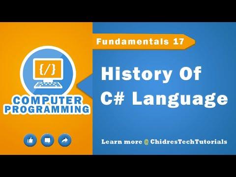 C# programming tutorial 16 - C# - History of C# programming language