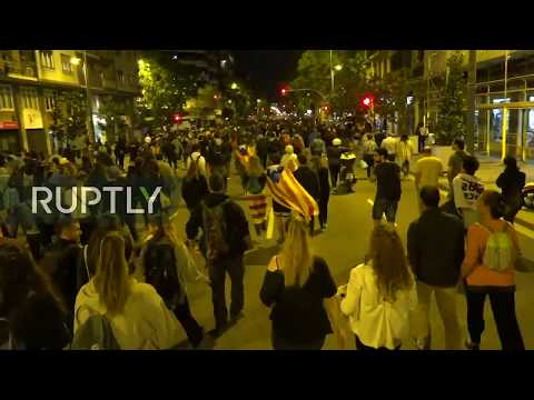 LIVE: Activists And Students Protest In Support Of Jailed Catalan Leaders
