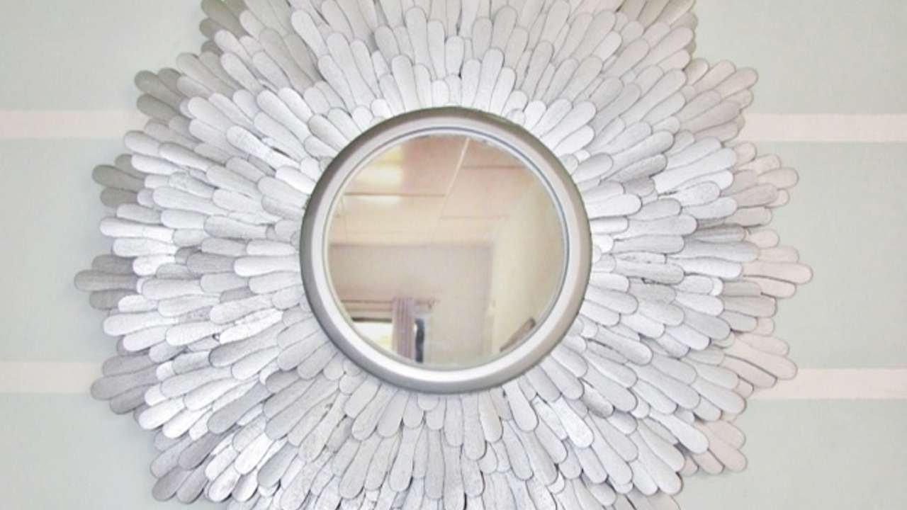 como crear un bonito espejo con forma de estrella hazlo tu mismo hogar
