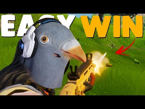HOW TO EASILY WIN LIKE A PIGEON | Fortnite Battle Royale Win